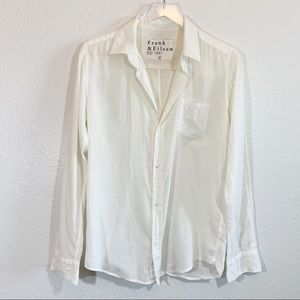 Frank and Eileen Barry button down shirt ivory